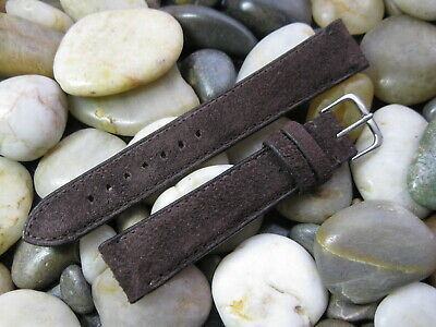 18 mm Brown Genuine Suede Leather Watch Band strap! Made in the USA - Gorgeous!