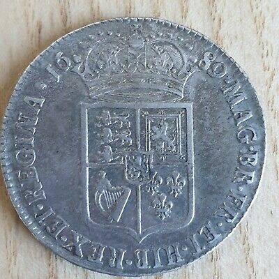 William And Mary Halfcrown 1689, Vf