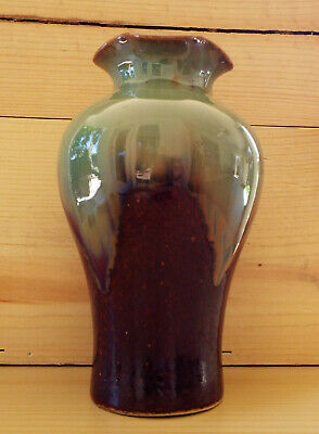 Antique Arts And Crafts Multi-Glaze Vase