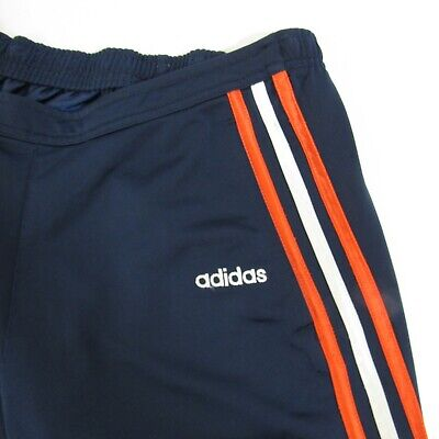 Adidas Athletic Pants Women's Size S Navy Blue Small Orange & White Stripes