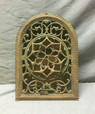 Antique 8x12 Decorative Star Arched Top Wall Heat Grate Vtg Grill 407-19Lr