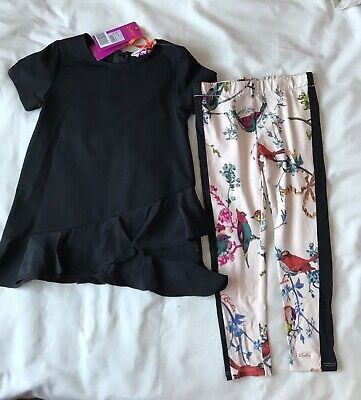 Ted Baker Girls Frill Top And Legging Set Age 5-6 Years Old