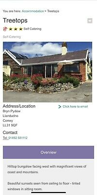 holiday cottages North wales