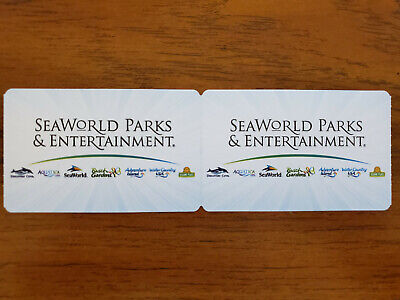 2x One Day General Admission Tickets - Seaworld Sea World San Diego Exp 6/24/20