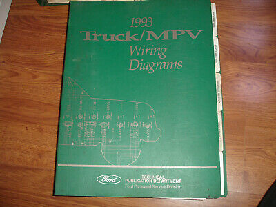 1993 Ford Truck MPV ECONOLINE Factory Electrical Wiring Diagram Schematic Manual