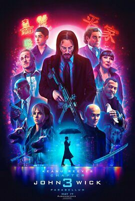 """NEW: John Wick: Chapter 3 - 13"""" x 19"""" Art Print Numbered 959 of 1000 - Free Ship"""