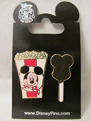 WDW~New 2010 Mickey Mouse - Popcorn and Ice Cream Bar - 2 Pins Set # 77150~NOC