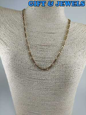 """VINTAGE GOLD-PLATED STERLING SILVER NECKLACE 18"""", 12.7 G, 925 #am423"""