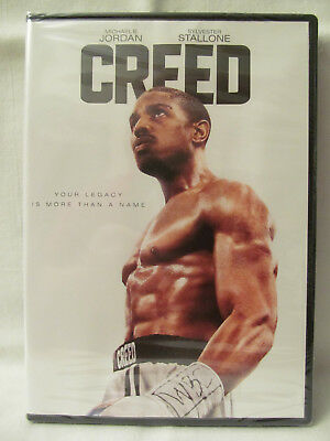 New CREED DVD (2016) with Michael B. Jordan + Sylvester Stallone