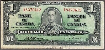1937 Bank of Canada  - $1.00 Bank Note - Fine - Osborne Towers  C/A 8379412