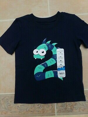 NWT Jumping Beans Boys 2 T-Shirt, 2nd Birthday, Dragon, Size 2T