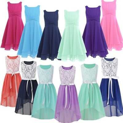Flower Girls Dress Princess Formal Party Pageant Wedding Ball Gown lace Dresses