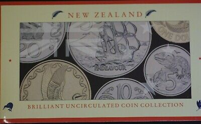 New Zealand 1990 Brilliant UNC Coin Collection
