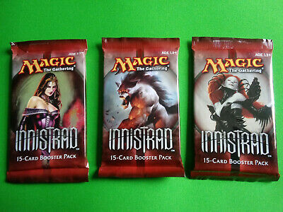 3x x3 Innistrad Booster Pack Draft Sealed Unopened Magic the Gathering Free Ship