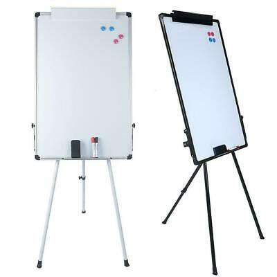 "36x24"" Magnetic Dry Erase Easel White Board Tripod Stand Display Adjustable Kids"