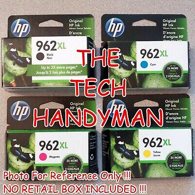 4-PACK HP GENUINE 962XL Black & 962 Color Ink (RETAIL BOX) OFFICEJET PRO 9010