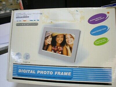 """Brand New Rock Digital Photo Frame 7"""" TFT LCD with SD/MMC Slot"""