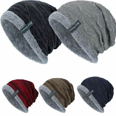 Men Women Knitted Baggy Beanie Winter Warm Hat Ski Causal Knit Cap Unisex Hat a6