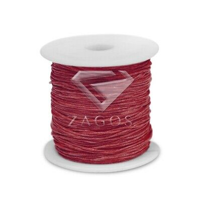80m/Roll Waxed Cotton Cord Jewellery Making Beading Thread Thong 1x1mm Red DIY
