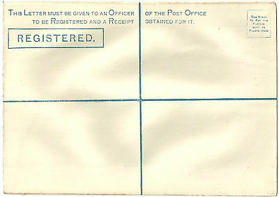 Queen Victoria Unused Postal Stationery Registered Envelope Rp5I
