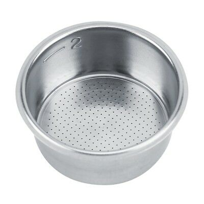 51mm Stainless Reusable fr Coffee Machine Capsule Pod 2 Cup Tamper Coffee Filter