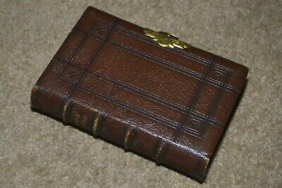 Vintage leather bound 1860s Book Of Common Prayer with engraved clasp
