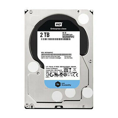 WD SE 2TB Datacenter Hard Disk Drive - 7200 RPM SATA 6 Gb/s 64MB Cache 3.5 Inch