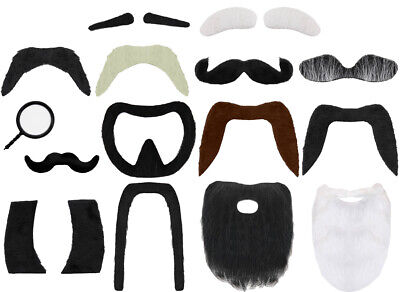 Facial Hair Beard Moustache Eyebrows Costume Accessory Disguise Fancy Dress