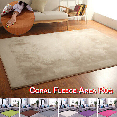 Soft Fleece Rugs Large Shaggy Area Rug Carpet Floor Mat For Living Rooms Bedroom