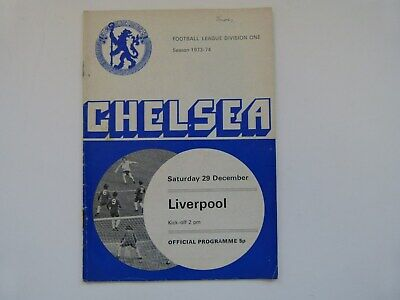 CHELSEA v LIVERPOOL - FOOTBALL PROGRAMME -  DIVISION ONE - 29 DECEMBER 1973