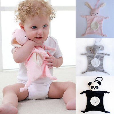 ITS- KQ_  Baby Soothing Towel Plush Toy Teether Soft Appease Bibs Pacifier Blank