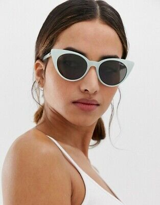 Quay Australia aphrodite cat eye sunglasses in blue