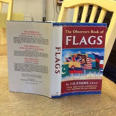 Observers Book Of Flags 1971 Glossy USA Edition $