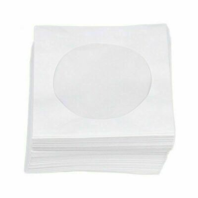 Paper CD DVD Blu Ray Disc Sleeves Covers Envelopes Storage Clear Window Bag Case