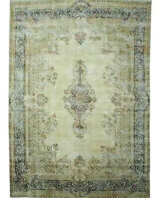 Traditional Hand Knotted Vintage Area Rug Ivory/Blue Modern Rugs Size(285 x 400)