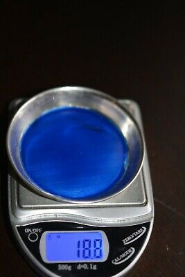 Antique Vintage Sterling Silver Blue Enamel Guilloche Miniature Dish 2.5''