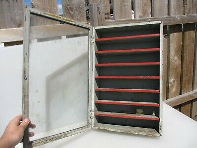 Vintage Wooden Shop Display Case Stand Glass Front Traders Stand 14x21""