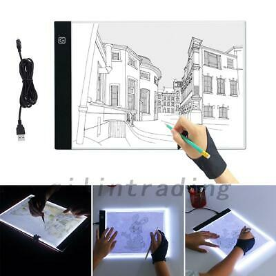 A4LED Craft Tracing Light Box Drawing Board Stencil Diamond Painting Thin Pad AU