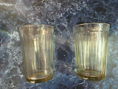 2pcs 20 facets USSR Russian Soviet FACETED GLASS DRINKING for VODKA or TEA