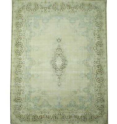 Traditional Hand Knotted Vintage Area Rug ivory/Grey Modern Rug Size (296 x 425)