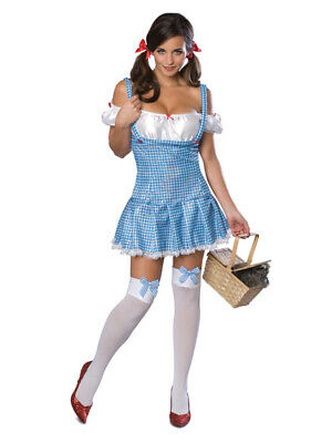 Adult Secret Wishes Dorothy Fancy Dress Costume Wizard of Oz Ladies Female BN
