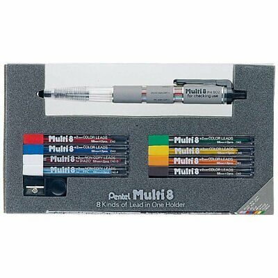 Pentel PH802ST Multi-8 2.0mm Lead Mechanical Pencil set 8 Colors New Free
