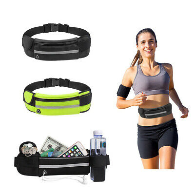Dual Pocket Running Belt Bag Pack Pouch For Running Workouts Cycling Hikking