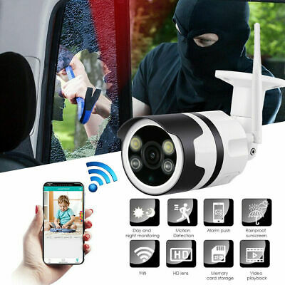 Security Wireless WIFI IP Camera 1080P HD Network Cam CCTV IR Night In/Outdoor