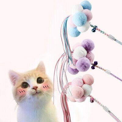 Pet Cat Toys Teaser Wand Toy Stick Feather Interactive Play Funny Pet Supply UK
