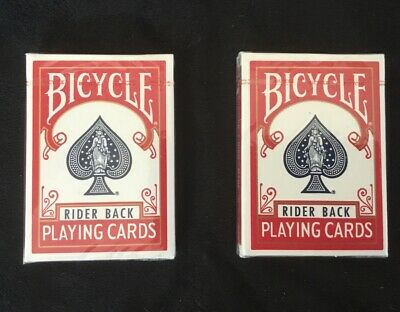 2 Decks Bicycle Rider Back (RED) Playing Cards (BLUE SEAL) OHIO MADE Rare Decks