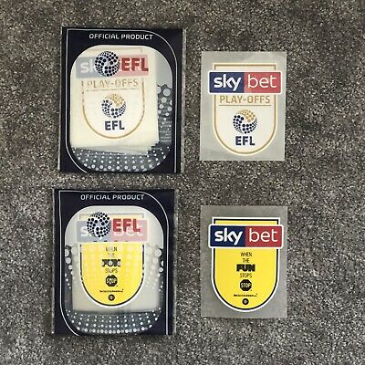 EFL Sky Bet Championship Play-Offs 2018 |2019 Player Size Shirt Sleeve Patches