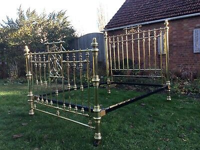 Stunning Antique Brass King Size Victorian Bed