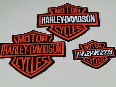 Harley Davidson Patches 2 Large 1 Small