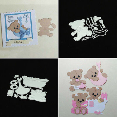 ITS- Bear Cutting Dies Stencil DIY Scrapbooking Embossing Album Paper Card Craft